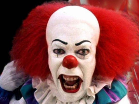 The original Pennywise (Tim Curry) appeared on TV in
