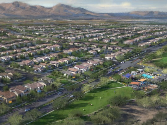 A new master-planned community of 1,124 acres and over 2,300 homes is planned for south Avondale, just north the Estrella Mountains.