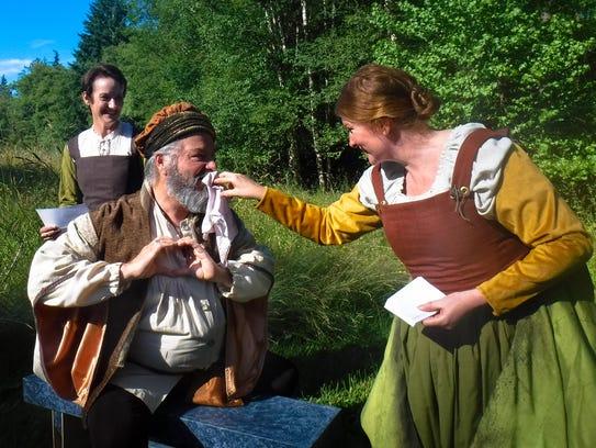 Sir John Falstaff (John Ellis) thinks he's playing