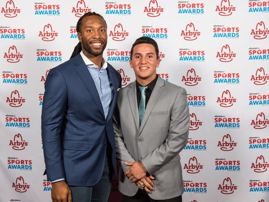 Larry Fitzgerald and Israel Loveall of Bagdad High