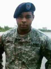 This undated photo shows Micah Johnson, who was a suspect in the sniper slayings of five law enforcement officers in Dallas  July 7, 2016. An Army veteran, Johnson served one tour in Afghanistan.