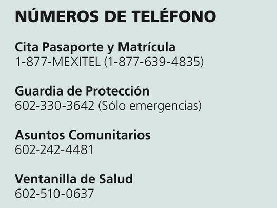 Contacte al Consulado de México en Phoenix