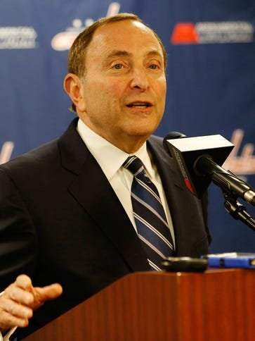 NHL commissioner Gary Bettman says he doesn't think