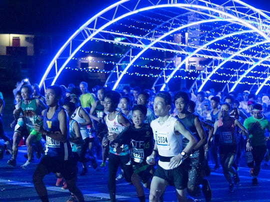 In this file photo, runners start the 2016 Guam International