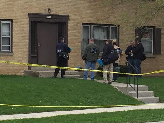 Investigators respond to the scene of an apparent fatal