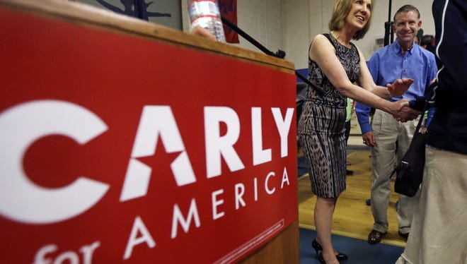 Carly Fiorina  at New Boston Central School, Tuesday, June 9, 2015