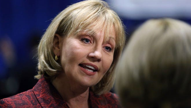 Lt. Gov. Kim Guadagno is the Republican leader in the race for governor.