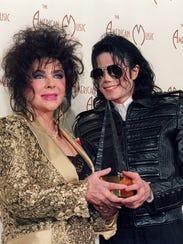Elizabeth Taylor with her close pal, Michael Jackson,