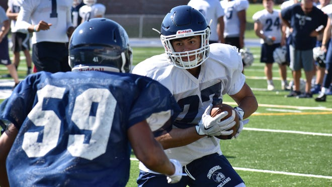 This Chambersburg football team participates in heat acclimatization week from August 7 to August 11, 2017 to prepare for the 2017 season.