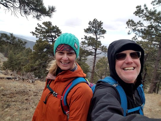 Anna and Rich Dozier take a selfie during their hike