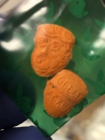 Indiana State Police found Trump-shaped tablets during six-day patrol.