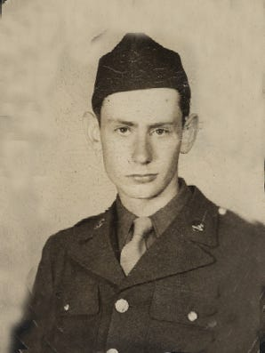 Edward J. Kanze Jr. at age 19. The World War II combat veteran is now 89 and living in North White Plains.