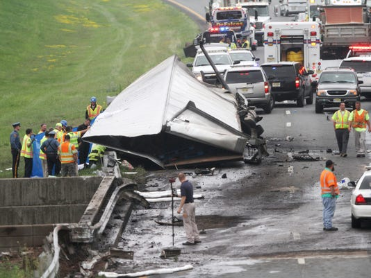 Route 78 traffic still backed up 11 hours after fiery fatal crash