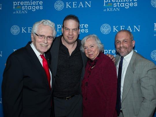 From left:W. John Bauer, John J. Wooten, Nancy Boucher and James M. Gurland.
