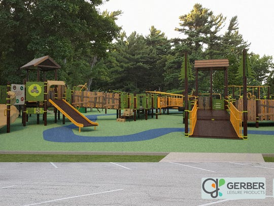 One of the renderings of the proposed playground. Angie