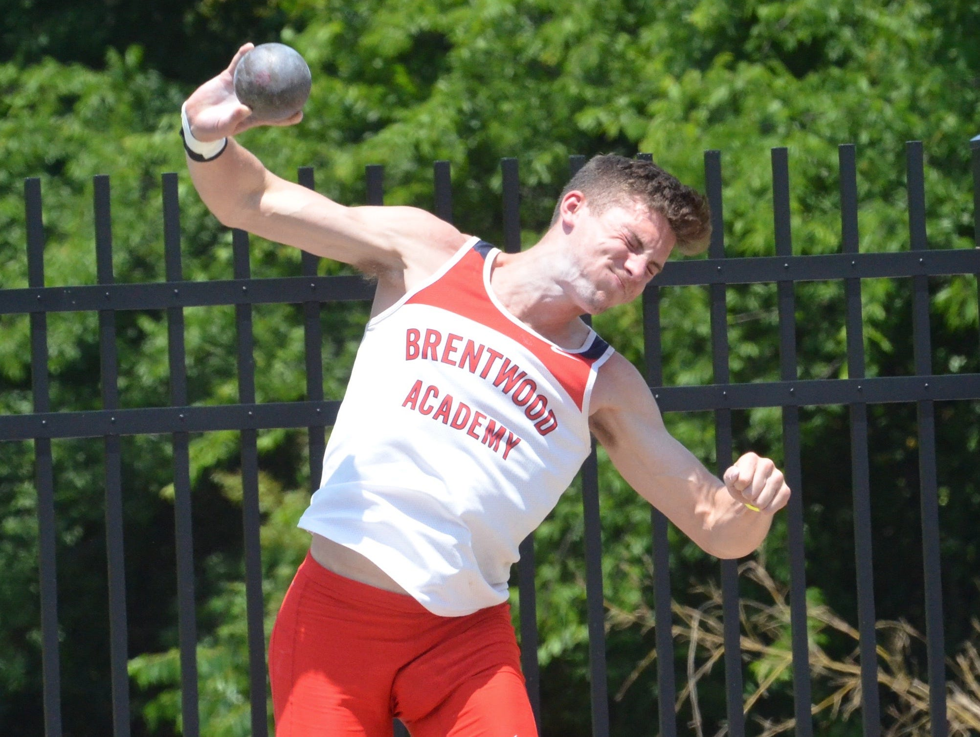 Brentwood Academy senior George Patrick won his second consecutive Division II decathlon championship on Tuesday at MTSU's Dean A. Hayes Staidum.