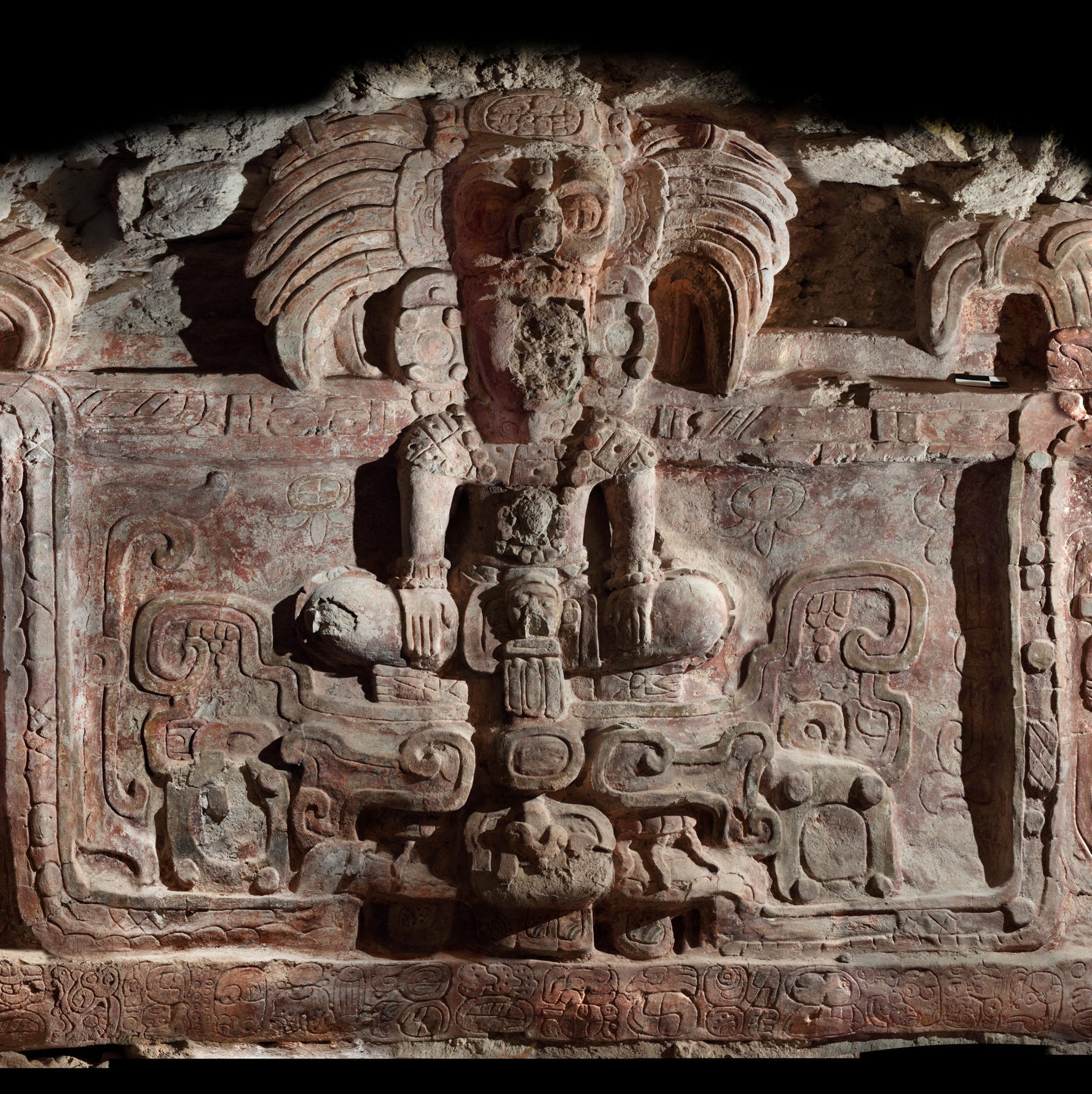Stunning Maya sculpture unearthed from buried pyramid