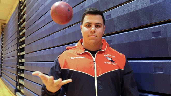 Briarcliff's Jack Zimmerman, a shot put thrower, is The Journal News Westchester/Putnam boys indoor track athlete of the year March 24, 2017.
