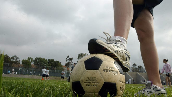 Playing sports such as soccer is a great way for adolescents to meet the government's physical-activity guidelines.