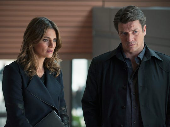 'Castle' stars Stana Katic and Nathan Fillion.