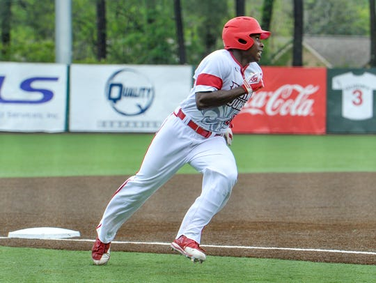 UL's Ishmael Edwards had another two-hit game for the