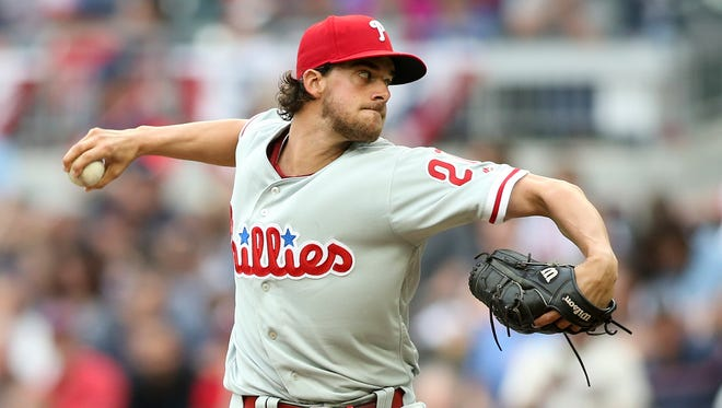 Aaron Nola, 24, is the Phillies ace.
