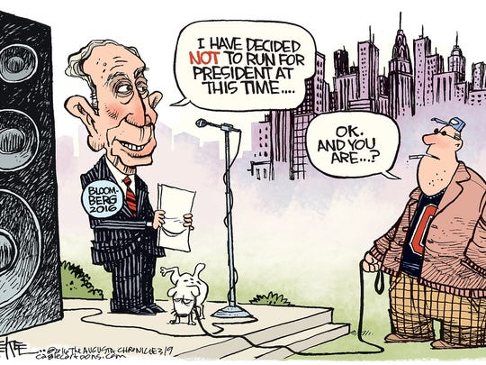 Michael Bloomberg decides not to run for president.
