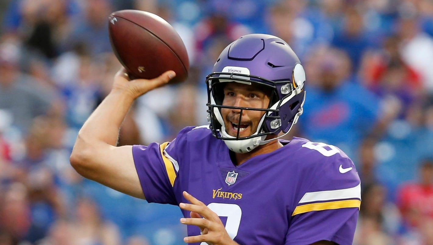 Vikings QB Sam Bradford inactive in Week 2 vs. Steelers