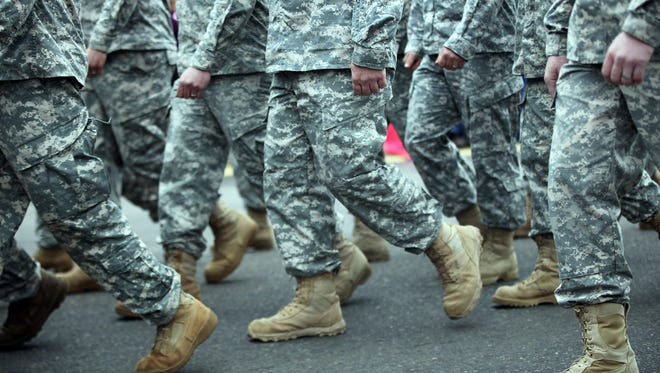 Members of the Oregon National Guard's 41st Infantry march in the largest Veteran's Day parade west of the Mississippi River.
