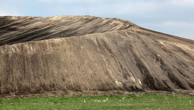 Thousands of tons of coal ash are stored in a landfill at the John Twitty Energy Center.