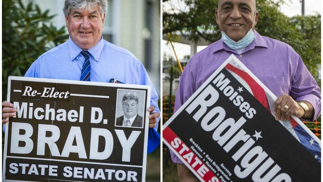 State Sen. Michael Brady, D-Brockton, is facing a primary challenge from a fellow Democrat, Councilor-at-large Moises Rodrigues, in the election taking place on Sept. 1, 2020.