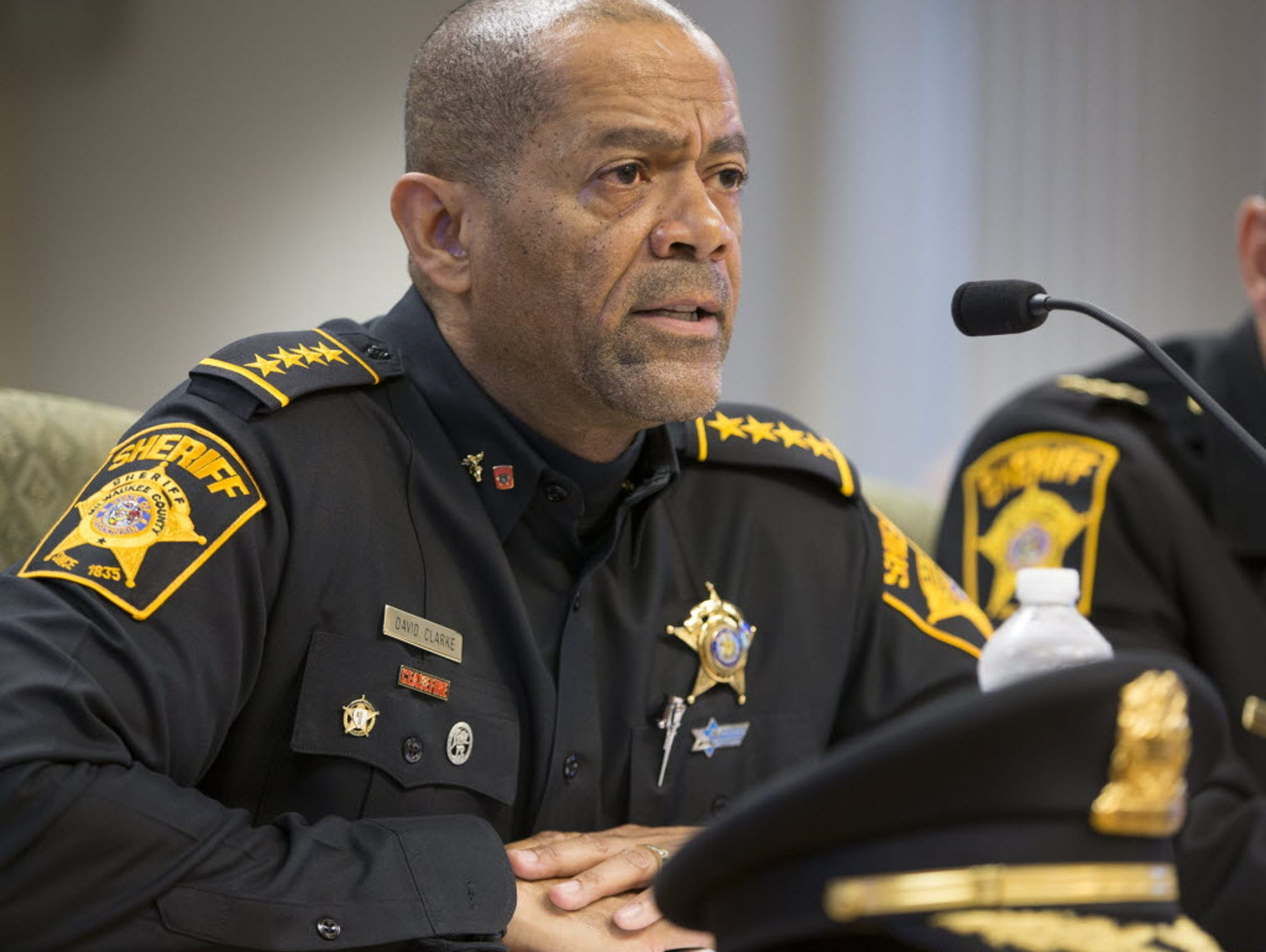 Former Milwaukee County Sheriff David Clarke clashed