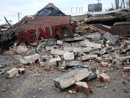 BESTPIX Riots After Grand Jury Decision Rip Apart Ferguson, Missouri