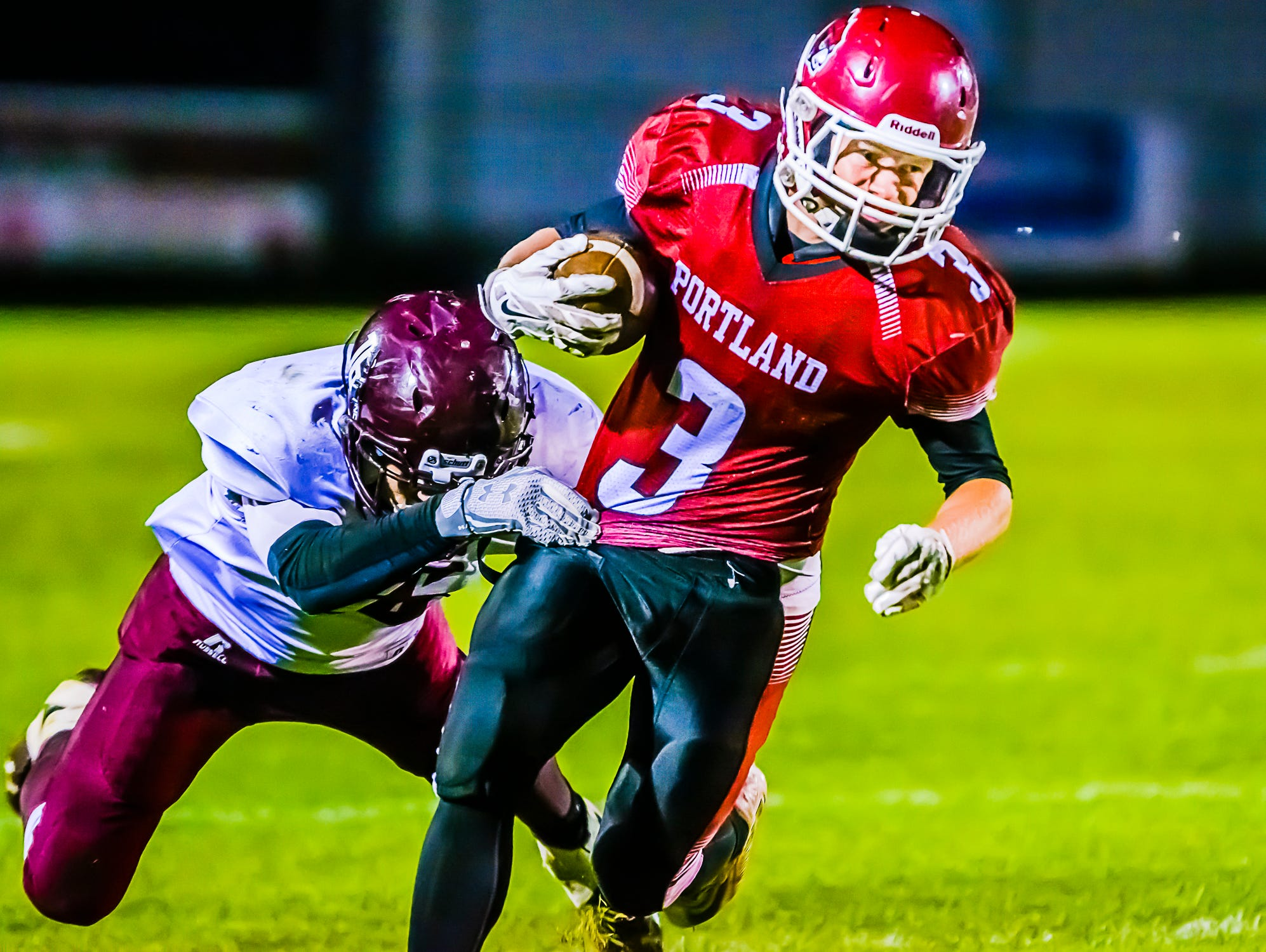 Portland's Logan Lefke was one of the area's top rushers Friday.