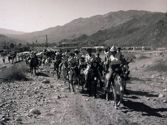 Leading the Burro Train in Tahquitz Canyon.