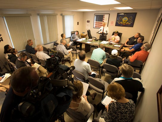 The West Cornwall Township Supervisors called a press