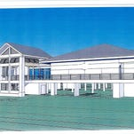 This artist's rendering of the proposed Veterans Park government center was included in an informational packet sent to state legislative leaders.