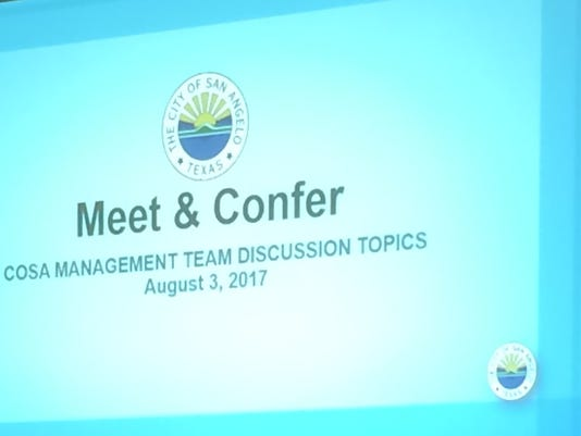 Meet and Confer sign
