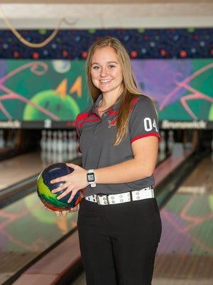 Megan Keister, Minerva girls bowling