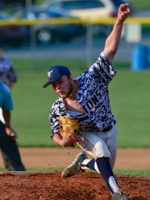 Terry Godfrey pitched a four-hit shutout for East Prospect on Tuesday evening vs. Red Lion.