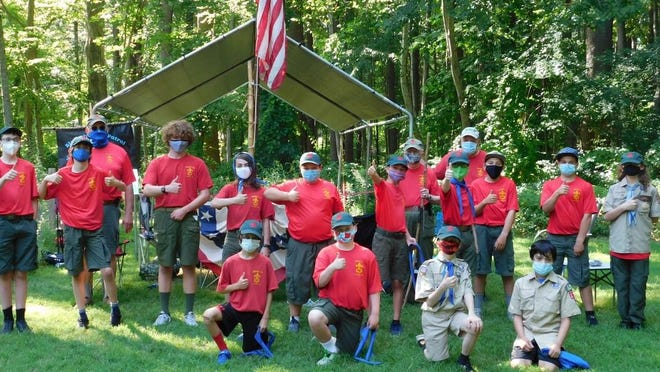 Members of the Hampton Boy Scouts Troop 177 got together last week and worked on various skills.