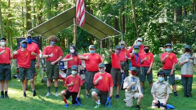 Members of the Hampton Boy Scouts Troop 177 got together last week and worked on various skills.