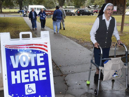 Voting in Opelousas