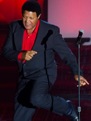 Chubby Checker performs at the Songwriters Hall of Fame Awards on June 12 in New York.