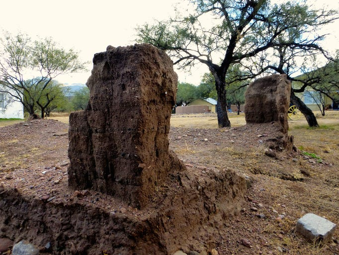 Adobe ruins at Tubac Presidio State Historic Park serve