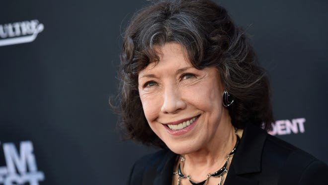 "Lily Tomlin, a cast member in ""Grandma,"" poses at the premiere of the film on the opening night of the Los Angeles Film Festival on June 10, 2015."