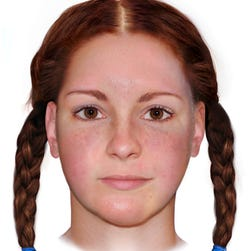 "A reconstructed image of the ""Buckskin Girl,"" who was beaten and strangled in rural Ohio in 1981."