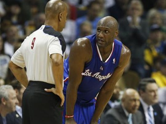 Lamar Odom on the basketball court.