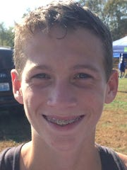 Webster County seventh-grader Aiden Wildman finished fifth in Saturday's 2-A First Region cross country meet in Owensboro