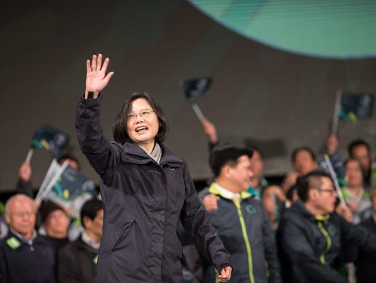 The chairwoman of the pro-independence Democratic Progressive